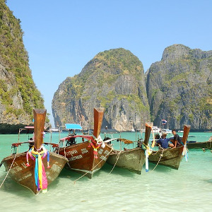 Longtail boats in Thailand.